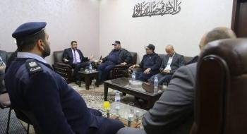 النائب العام يستقبل وفدا من قيادة الشرطه الفلسطينية بديوانه