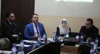 تمهيدا لافتتاح مركز استقبال الجمهور في سرايا نيابة غزة