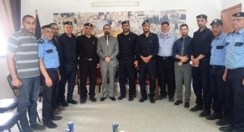 مدير نيابة شمال غزة  يستقبل مدير مركز شرطة بيت لاهيا ويؤكد على تحقيق الأمن وإرساء العدالة مع الشركاء