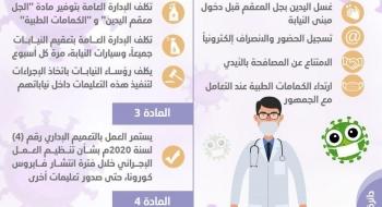 تعليمات النائب العام لموظفي النيابة العامة للوقاية الإحترازية من فيروس كورونا
