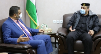النائب العام يلتقي مدير عام مراكز الإصلاح والتأهيل في مكتبه، لمناقشة أوضاع النزلاء في ظل الظروف الاستثنائية