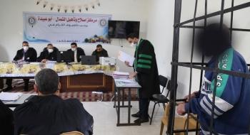 السلطة القضائية تعقد محاكمات بمركز إصلاح وتأهيل الشمال (أبو عبيدة) تُسهم بتخفيف تكدّس النزلاء