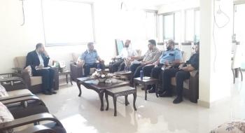 رئيسا نيابة غزة/ شركاء مع المؤسسة الشرطية لاستتباب الأمن ونشر ثقافة سيادة القانون وإرساء العدالة