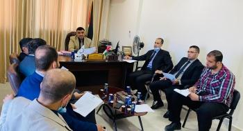 مدير  نيابة غزة الجزئية الثانية  ورئيس غزة الكلية يؤكدان علي الارتقاء بجودة الخدمات القضائية وتيسير إجراءات المواطنين
