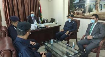 مدير نيابة غزة الدائرة الثانية يستقبل مدير شرطة الشاطئ  ويؤكدان على تعزيز التعاون الاجرائي وتجويد الخدمات العدلية