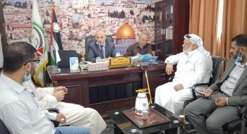 مدير نيابة الوسطي  يستقبل وفدا من المجلس التشريعي الفلسطيني