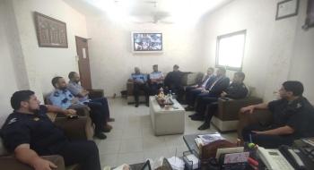مركز شرطة الزيتون يستقبل رئيس نيابة غزة