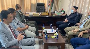 نيابة تنفيذ الأحكام وقيادة الشرطة الفلسطينية تؤكدان تعزيز التعاون الاجرائي فى تنفيذ الأحكام الجزائية