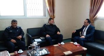 نيابة تنفيذ الأحكام تناقش مع قيادة الشرطة الفلسطينيةآليات تعزيز التعاون ومتابعة حل إشكالات تنفيذ الاحكام في القضايا الجزائية