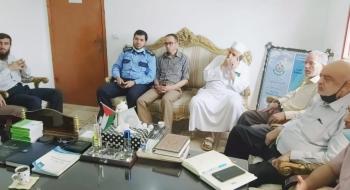 مدير نيابة خانيونس الجزئية  يستقبل وفدا من المجلس التشريعي الفلسطيني