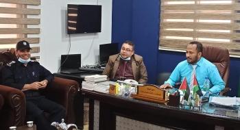 مدير نيابة رفح وادارة العلاقات العامة بالشرطة يؤكدان على تعزيز التعاون المشترك