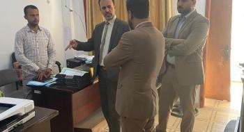 رئيس نيابة تنفيذ الأحكام  يناقش مع رؤساء النيابة آليات النهوض  بأرشفة الملفات الجزائية الكترونياً