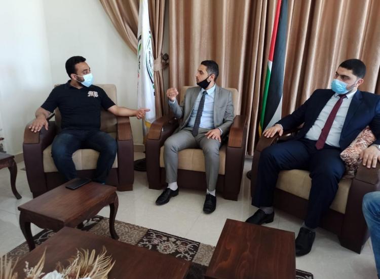 مدير نيابة غزة الأولي يستقبل مدير مكافحة المخدرات بالمحافظة