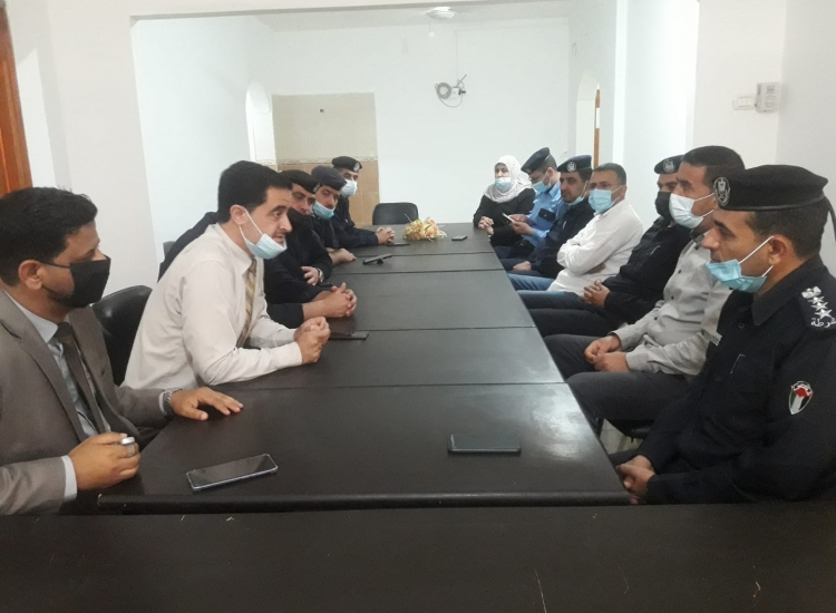 مجمع سرايا نيابة خانيونس تستقبل  محافظ خانيونس ومجلس قيادة الشرطة بالمحافظة