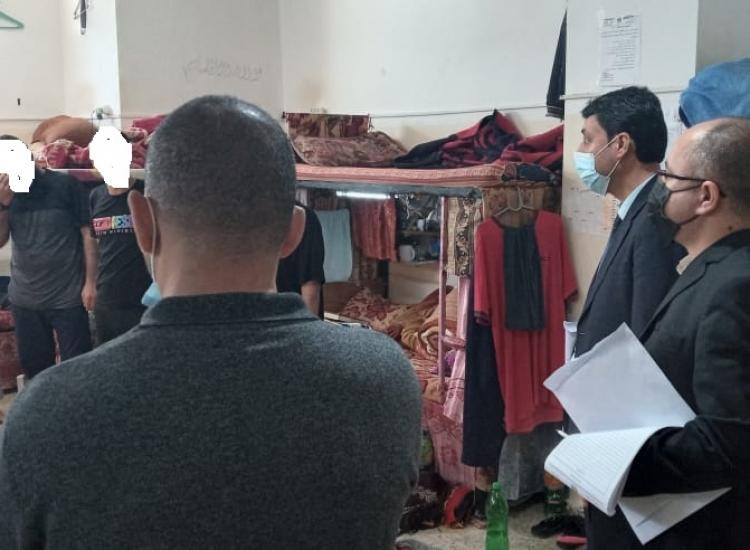 التفتيش القضائي يجري جولة تفقدية لمركز اصلاح وتأهيل الكتيبة والنساء