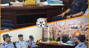 مدير نيابة الوسطي  يستقبل مدير الشرطة القضائية في مكتبه لتعزيز تيسير الخدمات العدلية