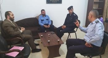 وكيل نيابة المرور بغزة ومدير شرطة المرور  يؤكدان على  تجويد وحسن ادارة الملف الجزائي والتشدد مع  المستببن بالحوادث المرورية الخطرة