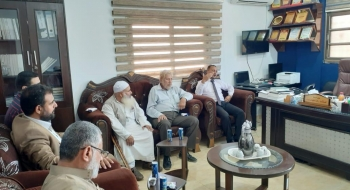 نيابة رفح تستقبل وفدا من رابطة علماء فلسطين(إصلاح رفح) .