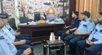 مدير نيابة الوسطى يستقبل مدير الشرطة القضائية في مكتبه لتعزيز تيسير الخدمات العدلية