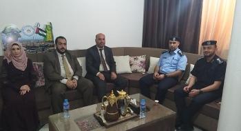 رئيس  نيابة غزة الثالثة  ومدير شرطة المحافظة يؤكدان على تعزيز التعاون الاجرائي لترسيخ العدالة وتحقيق الأمن والاستقرار المجتمعي