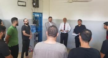 نيابة تنفيذ الأحكام تتفقد العمل في المراكز الشرطية بشرق غزة لتعزيز التعاون ومتابعة تنفيذ الاحكام في القضايا الجزائية