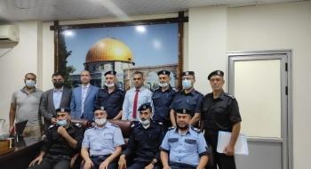 مدير نيابة غزة الثانية و مدير شرطة الشاطئ يؤكدان على تعزيز التعاون الاجرائي وترسيخ العدالة الإجرائية