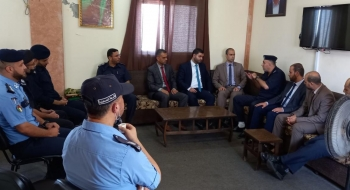 نيابة غزة الجزئية الثانية تجري زيارة تهنئة لمدير مركز شرطة الشاطئ