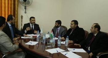 النائب العام المستشار/ ضياء الدين المدهون، يلتقي برئيس وأعضاء نيابة محافظة الوسطى
