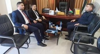 مدير  نيابة غزة الأولي يستقبل مدير شرطة بلدية غزة ويؤكدان على تعزيز حماية المستهلك
