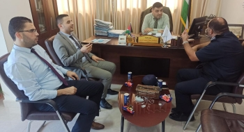رئيسا نيابة غزة الجزئية والكلية  يستقبلان ادارة العلاقات العامة بالشرطة الفلسطينية و يؤكدان على تعزيز التعاون المشترك