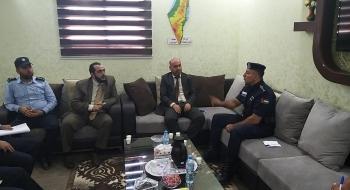 رئيس نيابة غزة الثالثة يستقبل مدير عام وضباط شرطة المرور