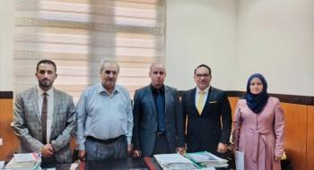 المكتب الفني في النيابة العامة يجري زيارة تعاونية للمكتب الفني في القضاء
