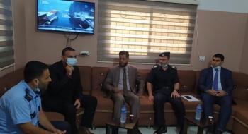 نيابة خانيونس الجزئية تجري زيارة تهنئة لمدير مركز شرطة المدينة بخانيونس