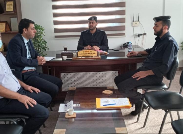 التفتيش القضائي يجري زيارات تفتيشة علي مراكز شرطة محافظة شمال غزة