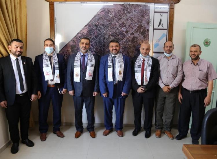 النائب العام يناقش مع رئيس بلدية دير البلح تعزيز التعاون وتيسير خدمات المواطنين وتحقيق المصلحة العامة